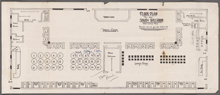 Savoy Ballroom - Planimetria